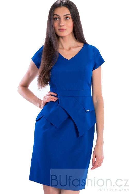 Modré pouzdrové šaty