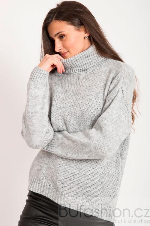 Šedý jemný svetr