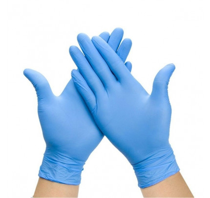 Ochranné rukavice 10 ks - modré