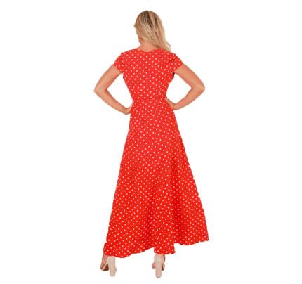 Vínově červené zavinovací šaty s mašlí ee72350a24a